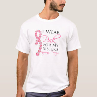 Sister's Inspiring Courage - Breast Cancer T-Shirt