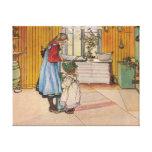 Sisters - Koket av Carl Larsson Canvas Print