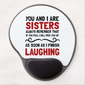 Sisters Laughing Gel Mouse Pad