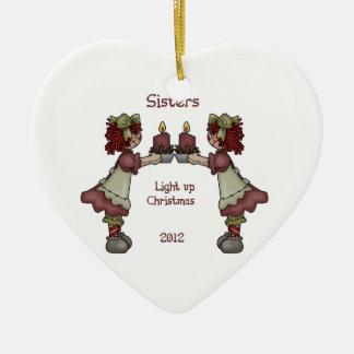 Sisters Light Up Christmas Christmas Ornament