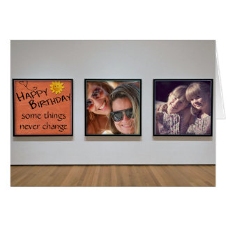"Sisters ""Memory Wall"" Birthday Card"