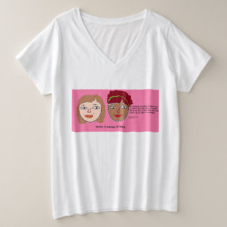 Sisters N-Courage (c) 2016 V-neck shirt plus size2