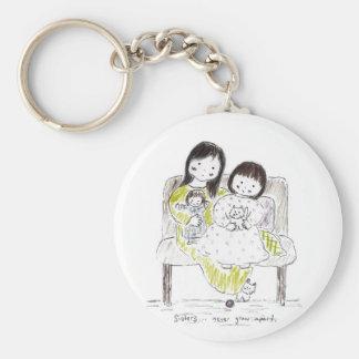 Sisters never grow apart key ring