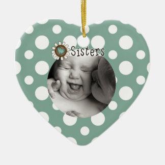Sisters Photo Keepsake Ornament
