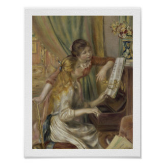 Sisters Playing the Piano Poster