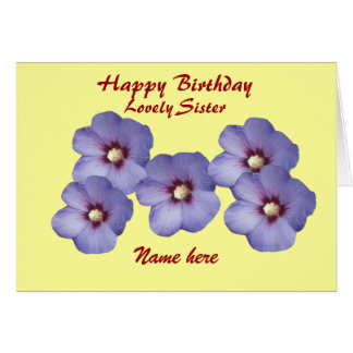 Sister's, Pretty Flowers, Birthday, add name front Greeting Card