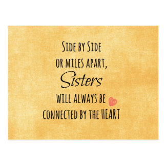 Sisters Quote Postcard