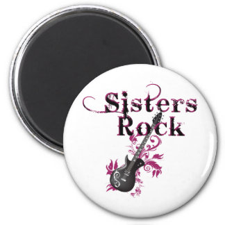 Sisters Rock 6 Cm Round Magnet