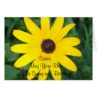 Sister's Sunny Birthday Black Eyed Susan Greeting Card