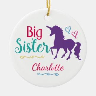 Sisters Unicorn Big Sister Personalized Christmas Christmas Ornament