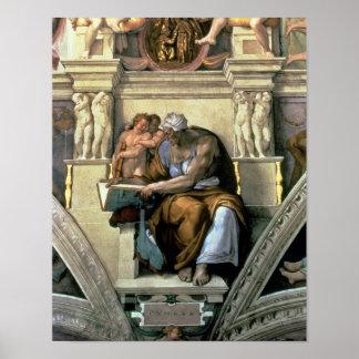 Sistine Chapel Ceiling: Cumaean Sibyl, 1510 Poster
