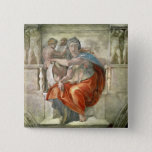 Sistine Chapel Ceiling: Delphic Sibyl 15 Cm Square Badge