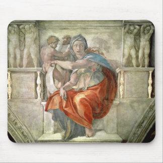 Sistine Chapel Ceiling Delphic Sibyl Mouse Pads
