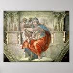 Sistine Chapel Ceiling: Delphic Sibyl Poster