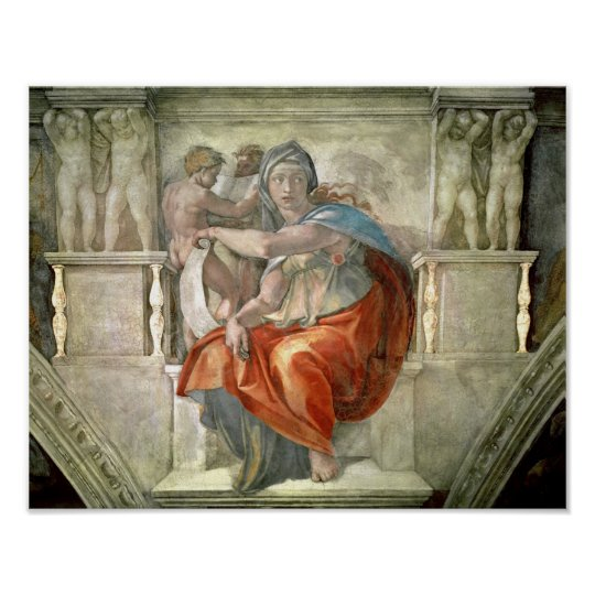 Sistine Chapel Ceiling: Delphic Sibyl Poster