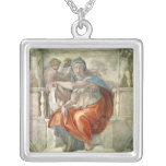 Sistine Chapel Ceiling: Delphic Sibyl Silver Plated Necklace
