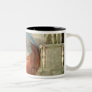 Sistine Chapel Ceiling: Delphic Sibyl Two-Tone Coffee Mug