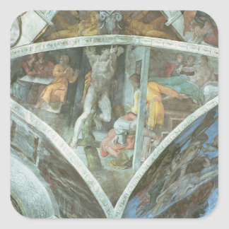 Sistine Chapel Ceiling: Haman Square Sticker