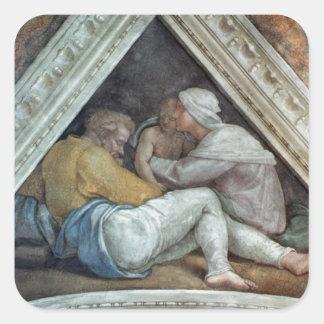 Sistine Chapel Ceiling: The Ancestors of Christ Square Sticker