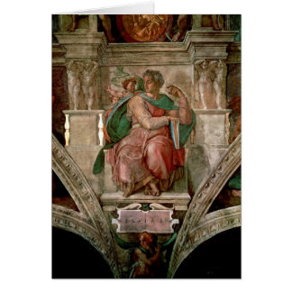 Sistine Chapel Ceiling: The Prophet Isaiah Card