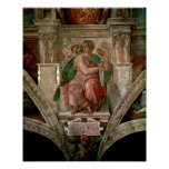 Sistine Chapel Ceiling: The Prophet Isaiah Poster