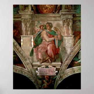 Sistine Chapel Ceiling: The Prophet Isaiah Poster