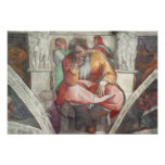 Sistine Chapel Ceiling: The Prophet Jeremiah Posters
