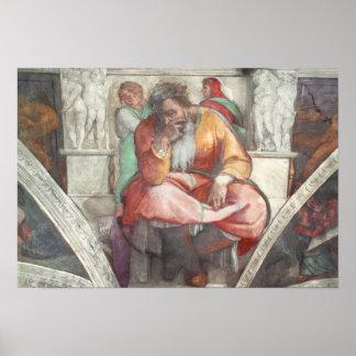 Sistine Chapel Ceiling: The Prophet Jeremiah Posters