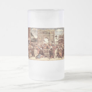 Sistine Chapel - Punishments of the Levites Frosted Glass Mug