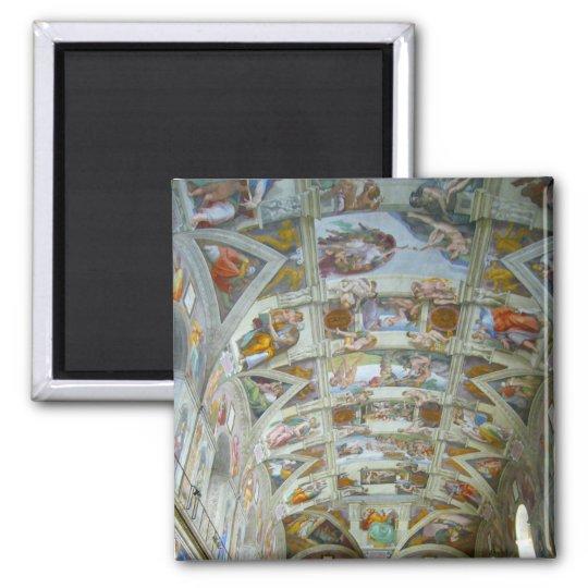 sistine chapel square magnet