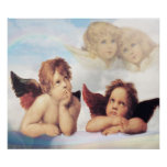 Sistine Madonna 2 Angels by Raphael Poster