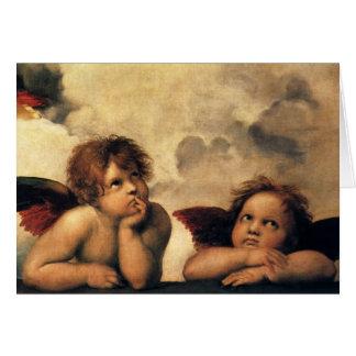 Sistine Madonna Angels by Rapahel, Vintage Easter Card