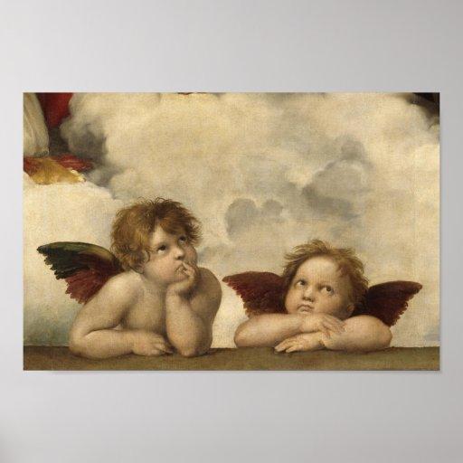 Sistine Madonna Angels by Raphael Print