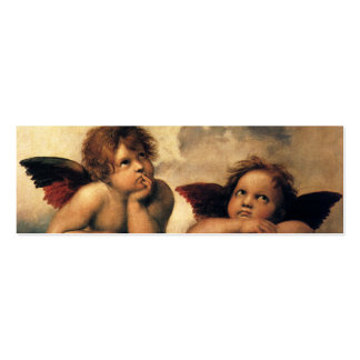 Sistine Madonna Angels by Raphael, Renaissance Art Business Card Template