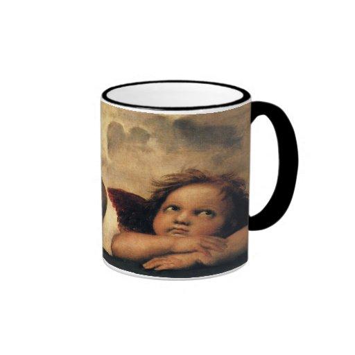 Sistine Madonna Angels by Raphael, Renaissance Art Coffee Mug