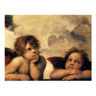 Sistine Madonna Angels by Raphael Renaissance Art Postcard