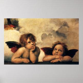 Sistine Madonna Angels by Raphael Renaissance Art Print