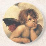 Sistine Madonna, Angels detail by Raphael Drink Coasters