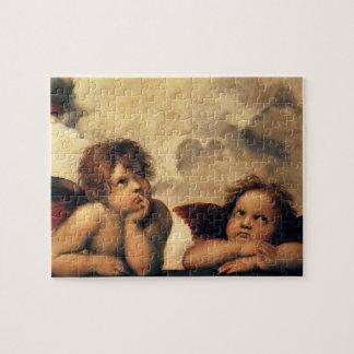 Sistine Madonna, Angels detail by Raphael Jigsaw Puzzle