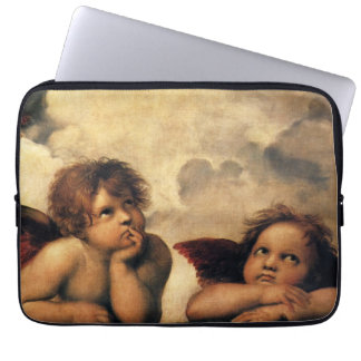 Sistine Madonna, Angels detail by Raphael Laptop Sleeve