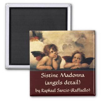 Sistine Madonna, Angels detail by Raphael Magnet