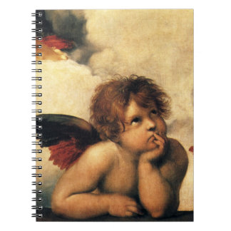 Sistine Madonna, Angels detail by Raphael Notebooks