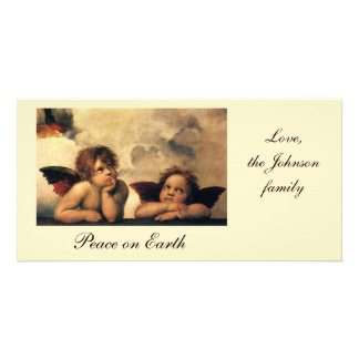 Sistine Madonna, Angels detail by Raphael Personalized Photo Card