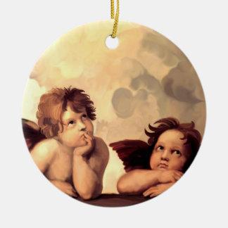 Sistine Madonna Cherubs Raffaelo Sanzio Christmas Ornament