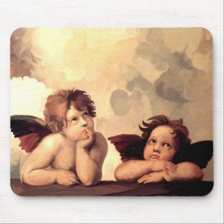 Sistine Madonna Cherubs Raffaelo Sanzio Mouse Pads