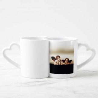 Sistine Madonna Cherubs Thinking Couple Mugs