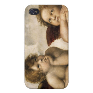 Sistine Madonna Detail, Raphael iPhone 4 Covers
