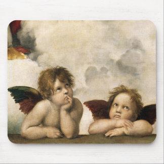 Sistine Madonna Detail, Raphael Mousepad