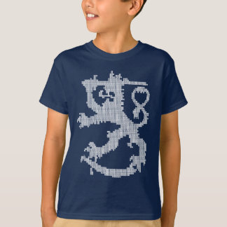 Sisu White Lion Kids' Dark T-shirt
