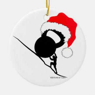 Sisyphus Kettlebell Merry Christmas Christmas Ornament